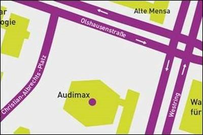 Lageplan Audimax